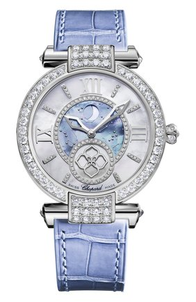 Женские часы white gold diamond blue CHOPARD перламутрового цвета, арт. 384246-1001 | Фото 1