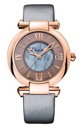 Женские часы rose gold date grey CHOPARD перламутрового цвета, арт. 384822-5005 | Фото 1