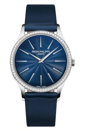 Женские часы white gold diamond bezel PATEK PHILIPPE бесцветного цвета, арт. 4897 G-001 | Фото 1