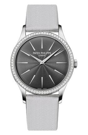 Женские часы calatrava PATEK PHILIPPE серого цвета, арт. 4897 G-010   Фото 1