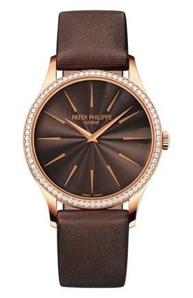Женские часы calatrava PATEK PHILIPPE коричневого цвета, арт. 4897 R-001 | Фото 1