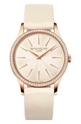 Женские часы rose gold diamond bezel PATEK PHILIPPE белого цвета, арт. 4897 R-010   Фото 1