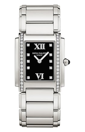 Женские часы twenty 4 steel PATEK PHILIPPE черного цвета, арт. 4910/10 A-001   Фото 1