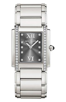 Женские часы steel PATEK PHILIPPE серебряного цвета, арт. 4910/10 A-010 | Фото 1
