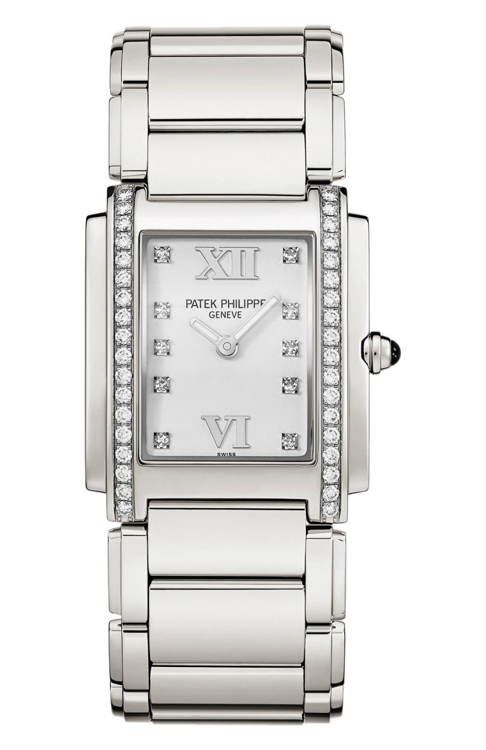 Женские часы twenty 4 steel PATEK PHILIPPE белого цвета, арт. 4910/10 A-011 | Фото 1