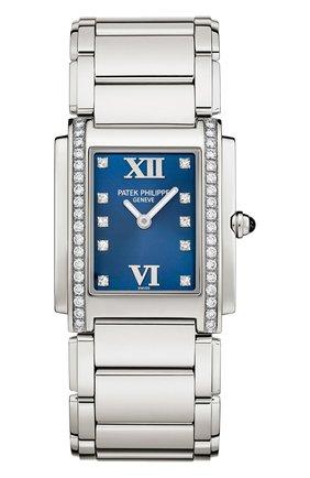 Женские часы steel ultra-slim PATEK PHILIPPE черного цвета, арт. 4910/10 A-012   Фото 1