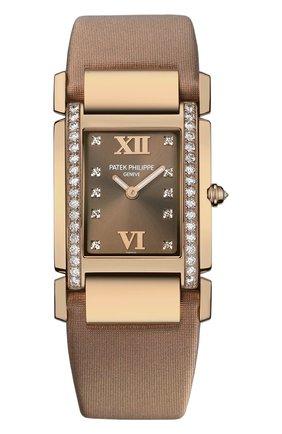 Женские часы rose gold PATEK PHILIPPE бесцветного цвета, арт. 4920 R-001 | Фото 1