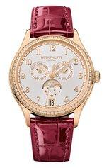 Женские часы moon phase rose gold PATEK PHILIPPE бесцветного цвета, арт. 4947 R-001 | Фото 1 (Материал корпуса: Розовое золото; Цвет циферблата: Серебристый; Механизм: Автомат)
