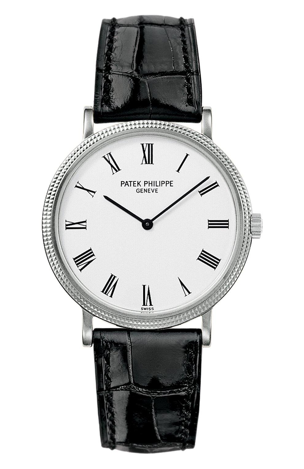 Мужские часы calatrava PATEK PHILIPPE белого цвета, арт. 5120 G-001 | Фото 1