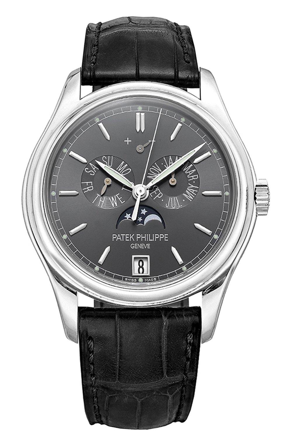 Мужские часы complications PATEK PHILIPPE темно-серого цвета, арт. 5146 P-001 | Фото 1