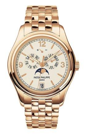 Мужские часы rose gold annual calendar PATEK PHILIPPE кремвого цвета, арт. 5146/1 R-001 | Фото 1
