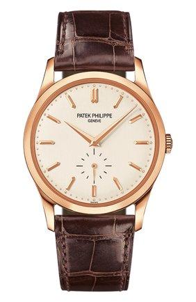 Мужские часы calatrava PATEK PHILIPPE белого цвета, арт. 5196 R-001 | Фото 1