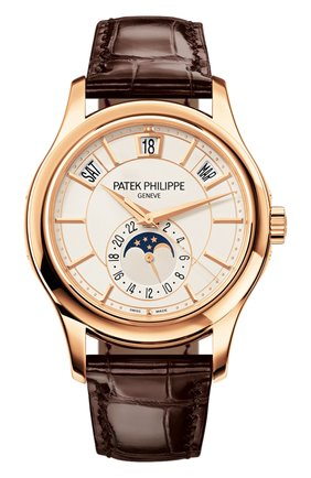 Мужские часы annual calendar PATEK PHILIPPE белого цвета, арт. 5205 R-001 | Фото 1