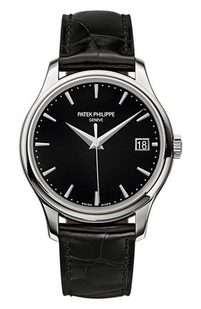Мужские часы white gold date black PATEK PHILIPPE бесцветного цвета, арт. 5227 G-010 | Фото 1