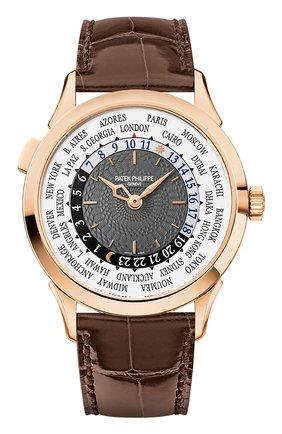 Мужские часы world time PATEK PHILIPPE бесцветного цвета, арт. 5230 R-001 | Фото 1