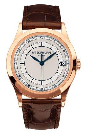 Мужские часы calatrava PATEK PHILIPPE серого цвета, арт. 5296 R-001 | Фото 1
