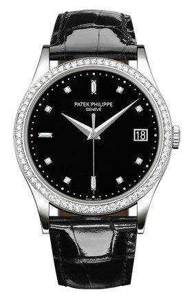 Мужские часы calatrava PATEK PHILIPPE черного цвета, арт. 5297 G-001 | Фото 1