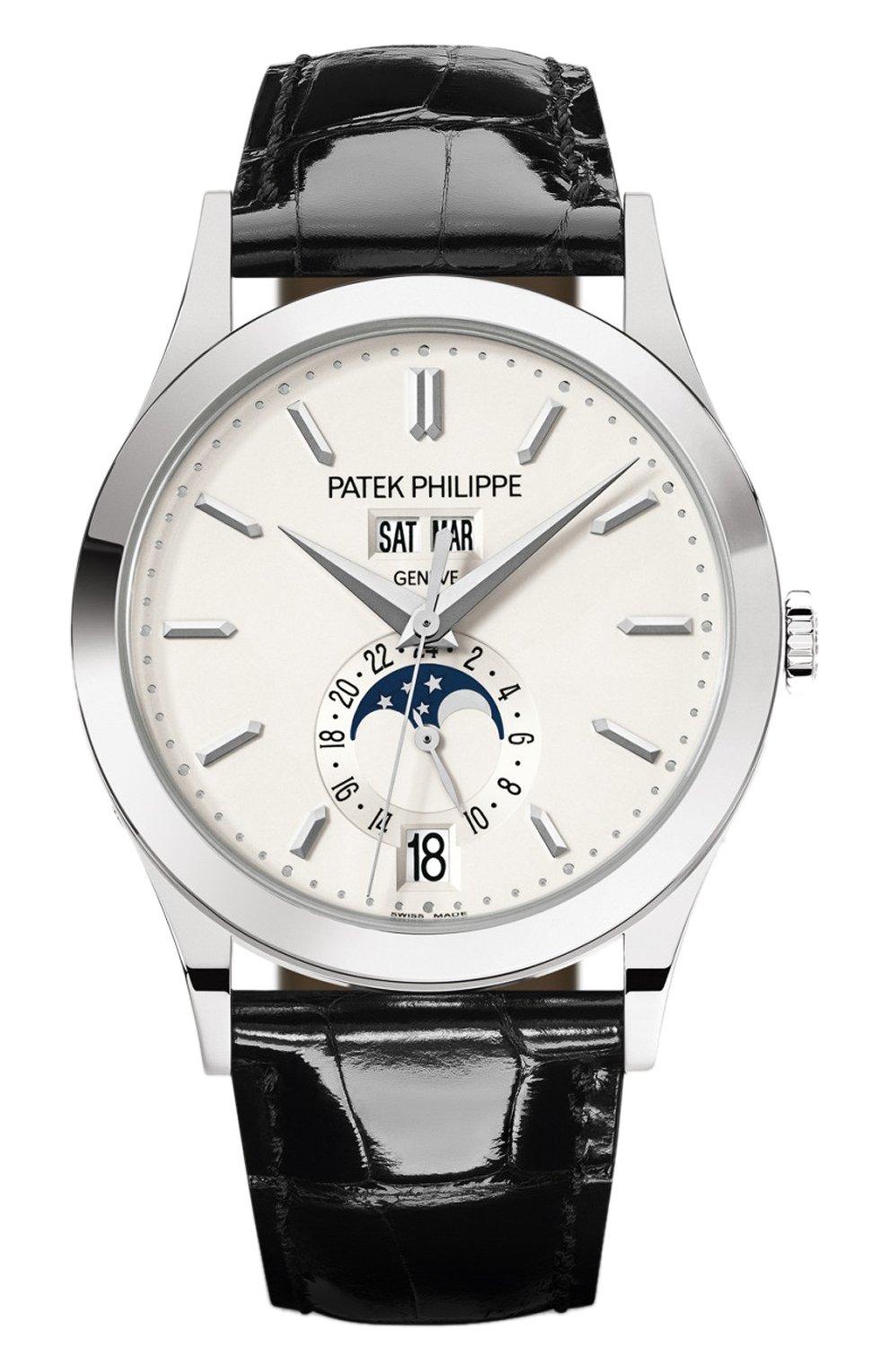 Мужские часы annual calendar PATEK PHILIPPE белого цвета, арт. 5396 G-011 | Фото 1