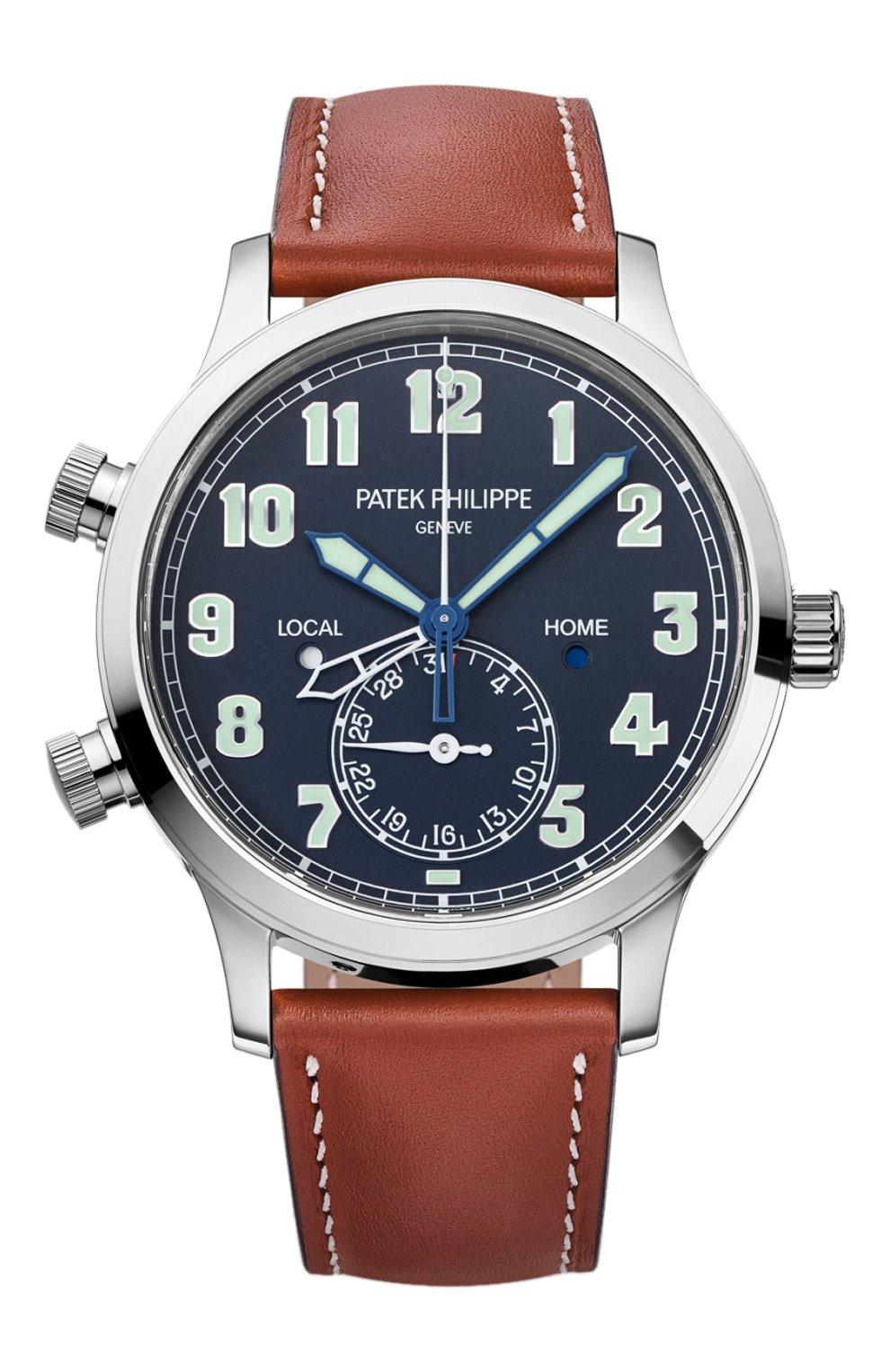 Мужские часы pilot travel time PATEK PHILIPPE синего цвета, арт. 5524 G-001   Фото 1