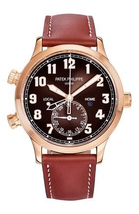 Мужские часы calatrava pilot travel time PATEK PHILIPPE коричневого цвета, арт. 5524 R-001 | Фото 1