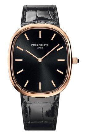 Мужские часы rose gold PATEK PHILIPPE черного цвета, арт. 5738 R-001 | Фото 1