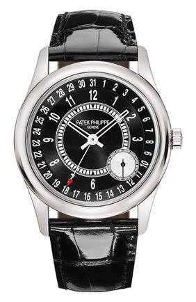 Мужские часы calatrava PATEK PHILIPPE черного цвета, арт. 6006 G-001 | Фото 1