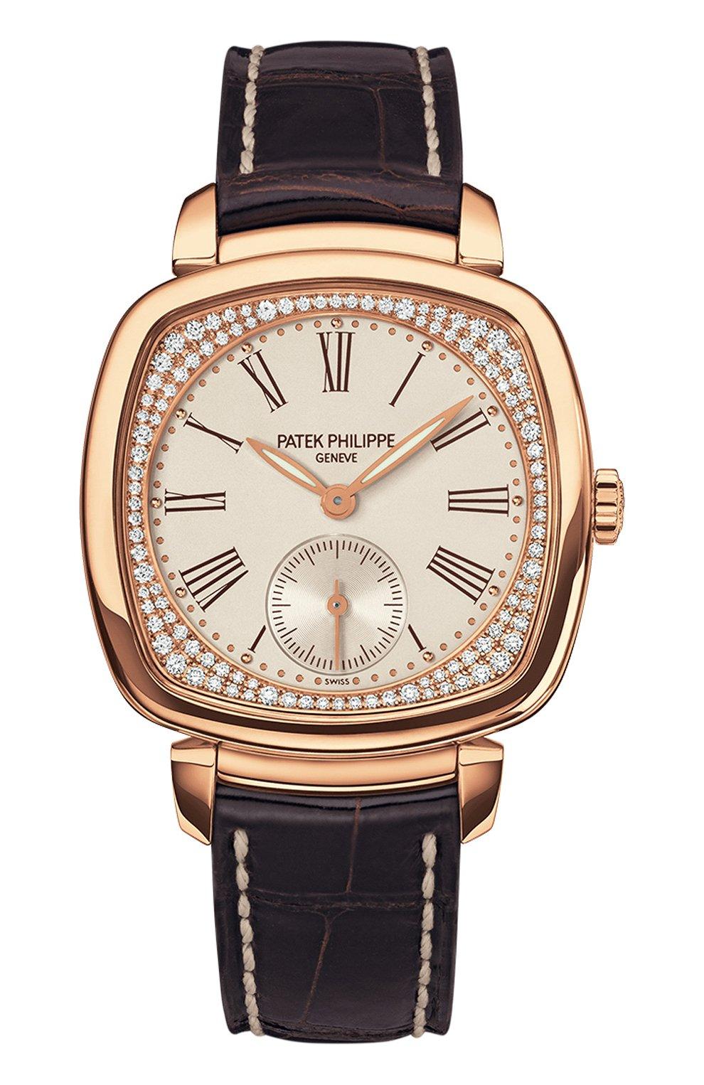 Женские часы rose gold PATEK PHILIPPE белого цвета, арт. 7041 R-001 | Фото 1