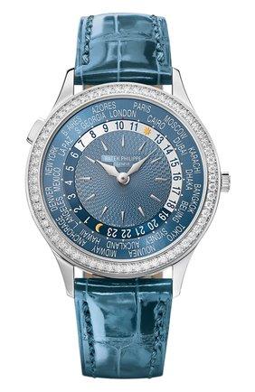 Женские часы world time PATEK PHILIPPE серо-голубого цвета, арт. 7130 G-016   Фото 1