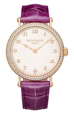 Женские часы calatrava PATEK PHILIPPE белого цвета, арт. 7200/200 R-001 | Фото 1