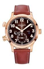 Женские часы calatrava pilot travel time PATEK PHILIPPE бесцветного цвета, арт. 7234 R-001 | Фото 1 (Цвет циферблата: Другое; Материал корпуса: Розовое золото; Механизм: Автомат)