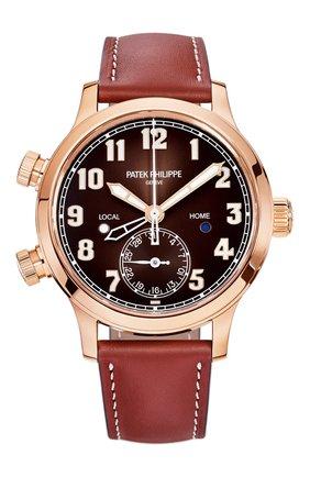 Женские часы calatrava pilot travel time PATEK PHILIPPE коричневого цвета, арт. 7234 R-001 | Фото 1