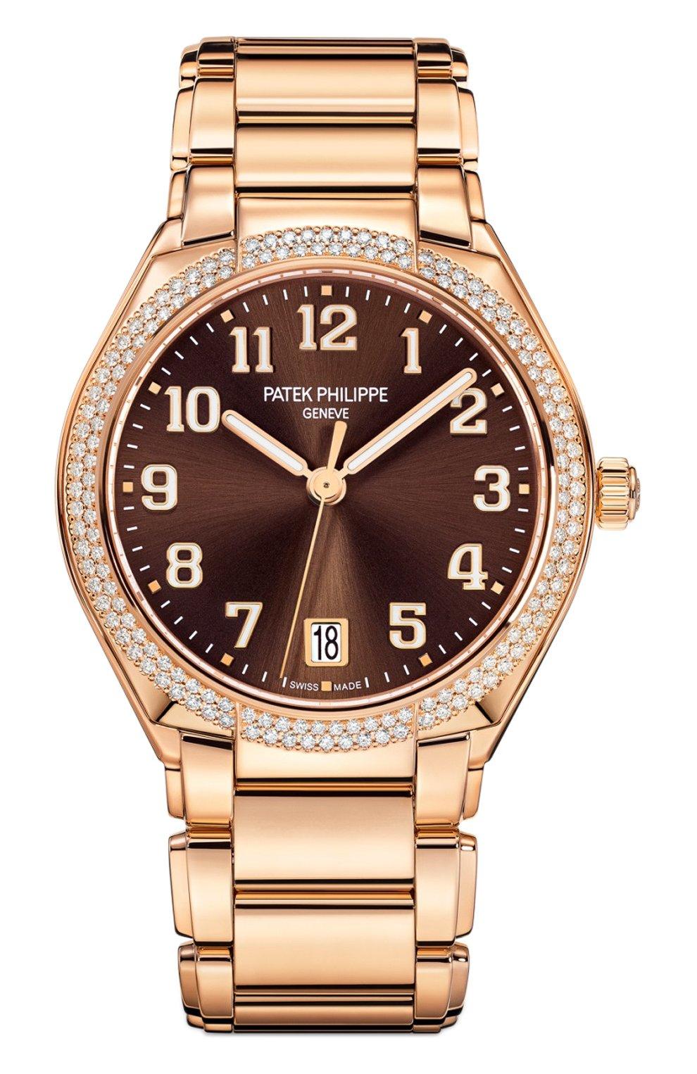 Женские часы twenty-4 automatic PATEK PHILIPPE коричневого цвета, арт. 7300/1200 R-001 | Фото 1