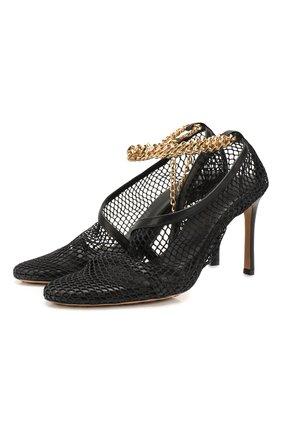 Женская текстильные туфли the new mesh BOTTEGA VENETA черного цвета, арт. 618755/VBPS3 | Фото 1
