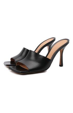 Женские кожаные мюли the stretch BOTTEGA VENETA черного цвета, арт. 610538/VBSF0 | Фото 1 (Материал внутренний: Натуральная кожа; Подошва: Плоская; Каблук тип: Шпилька; Каблук высота: Высокий)