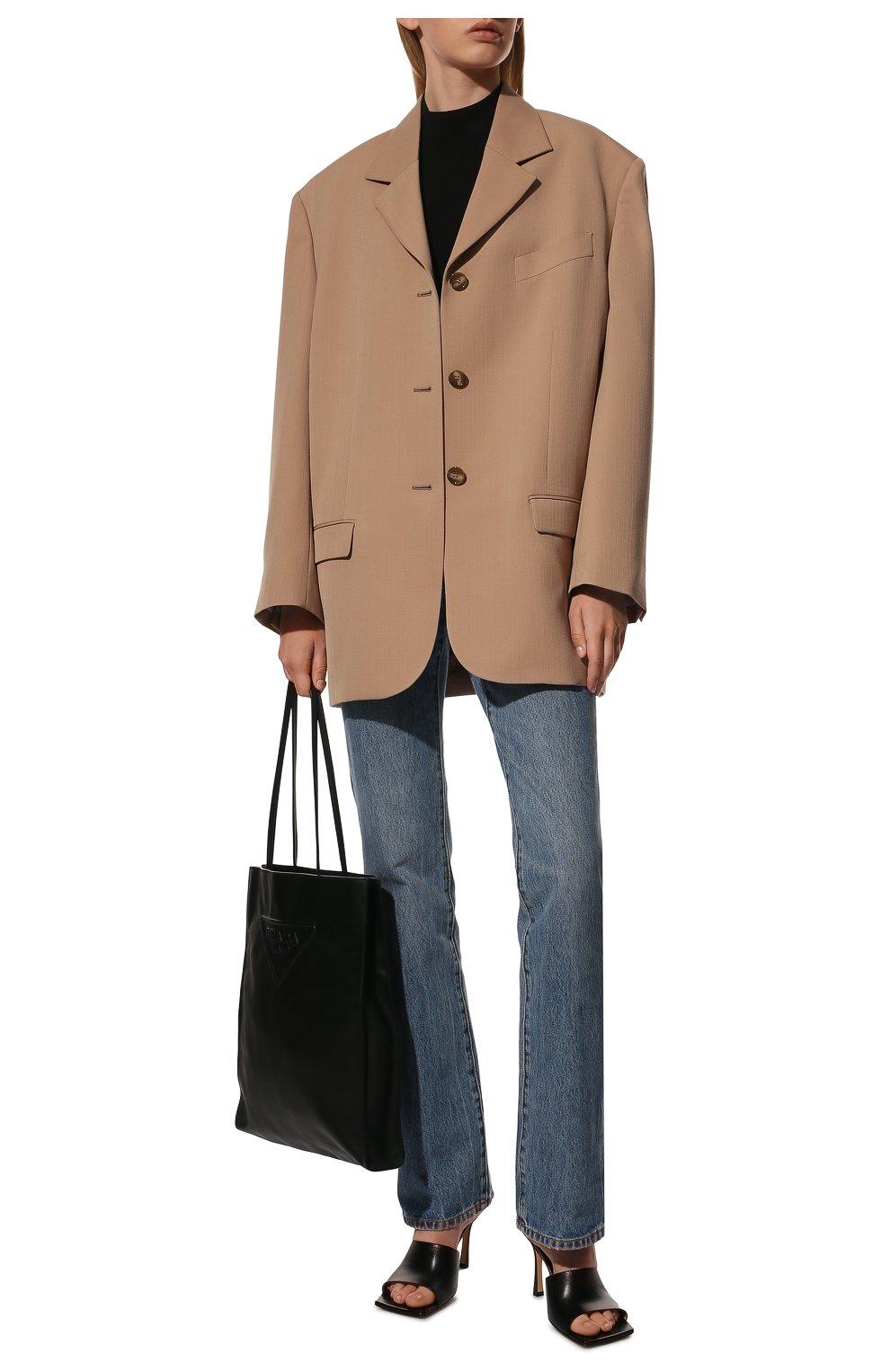 Женские кожаные мюли BOTTEGA VENETA черного цвета, арт. 610538/VBSF0   Фото 2