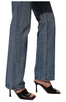 Женские кожаные мюли BOTTEGA VENETA черного цвета, арт. 610538/VBSF0   Фото 3