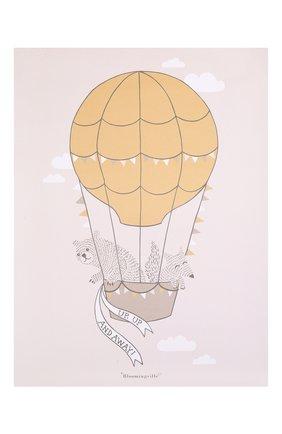 Детского постер BLOOMINGVILLE коричневого цвета, арт. 95148423 | Фото 1