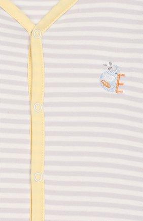 Детский хлопковая сорочка KISSY KISSY серого цвета, арт. KNW04166N | Фото 3