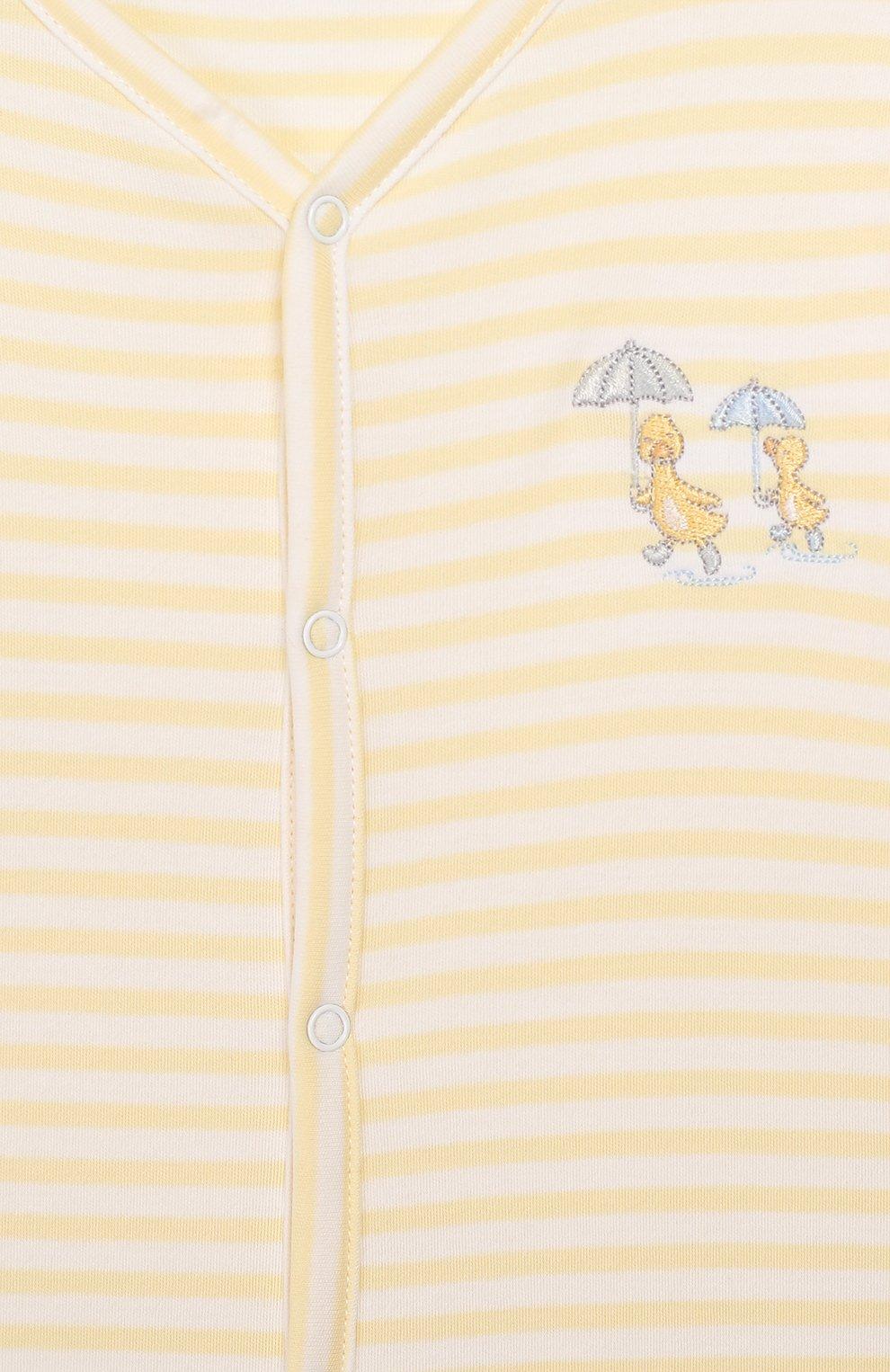 Детский хлопковая сорочка KISSY KISSY желтого цвета, арт. KNW03460N | Фото 3