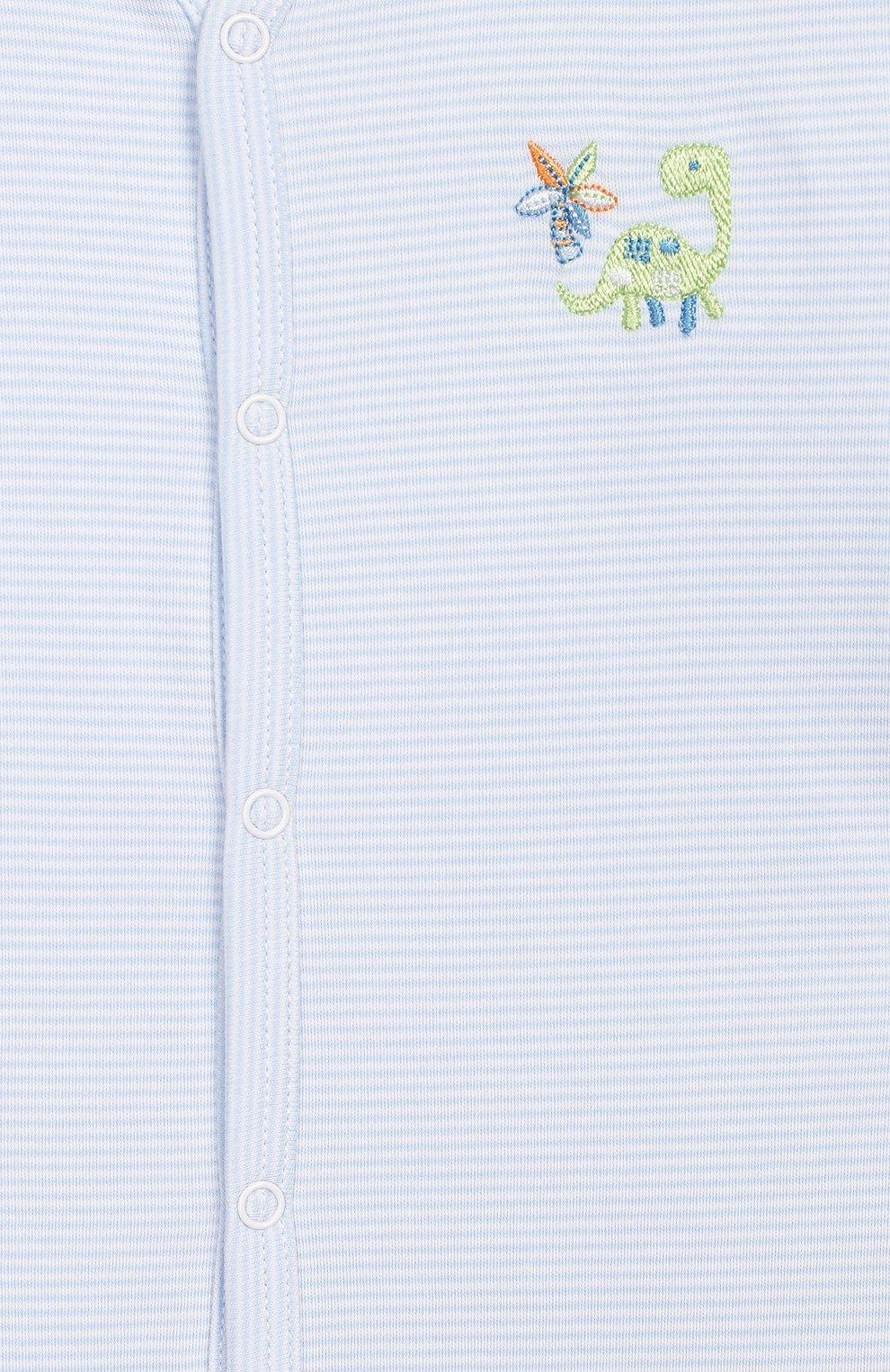 Детский хлопковый комбинезон KISSY KISSY голубого цвета, арт. KBQ04105N | Фото 3