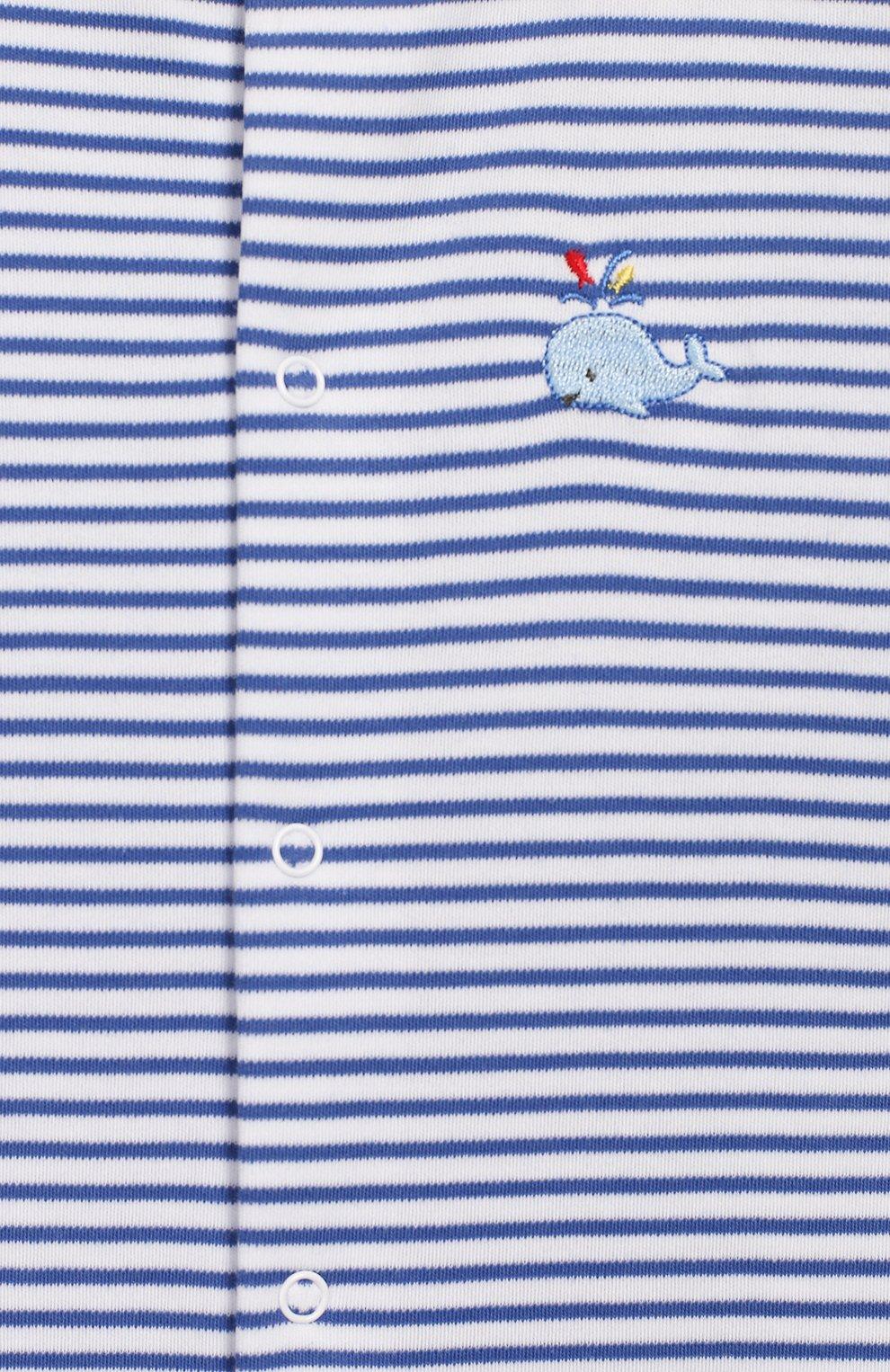 Детский хлопковый комбинезон KISSY KISSY голубого цвета, арт. KBQ03559N | Фото 3