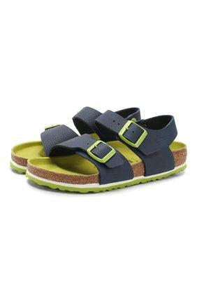 Детские сандалии BIRKENSTOCK синего цвета, арт. 1015755/36 | Фото 1