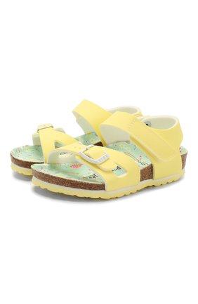 Детские босоножки BIRKENSTOCK желтого цвета, арт. 1016038/24-35   Фото 1