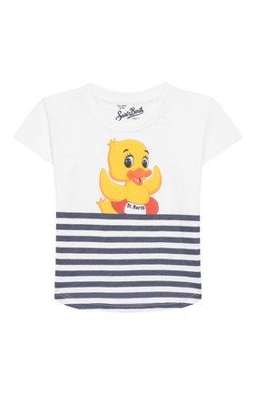 Детская хлопковая футболка MC2 SAINT BARTH белого цвета, арт. STBK EMMA/EMM0001 | Фото 1