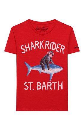 Детская хлопковая футболка MC2 SAINT BARTH красного цвета, арт. STBK FLYNN/FLY0001 | Фото 1