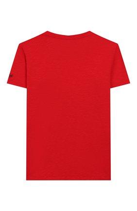 Детская хлопковая футболка MC2 SAINT BARTH красного цвета, арт. STBK FLYNN/FLY0001 | Фото 2