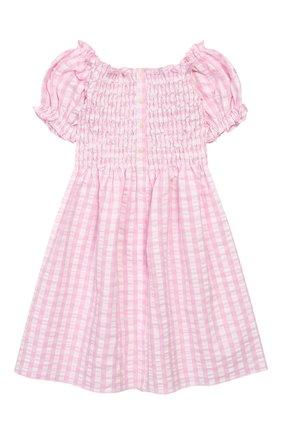 Детское хлопковое платье MC2 SAINT BARTH розового цвета, арт. STBK DRESSY/DRE0001   Фото 1