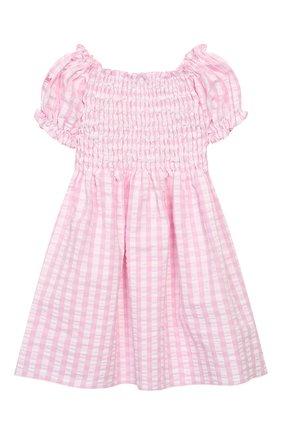 Детское хлопковое платье MC2 SAINT BARTH розового цвета, арт. STBK DRESSY/DRE0001   Фото 2
