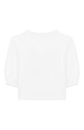 Детская хлопковый лонгслив EMILIO PUCCI белого цвета, арт. 9M8173/MC960/5-8 | Фото 2