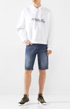 Мужские текстильные кроссовки FENDI разноцветного цвета, арт. 7E1347 AAWZ | Фото 2